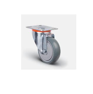 Колесо аппаратное с подшипником поворотное 80 мм