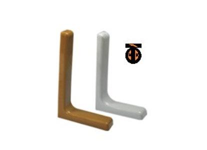 От 10 шт. Кронштейн с декративными накладками (белый), L=240мм