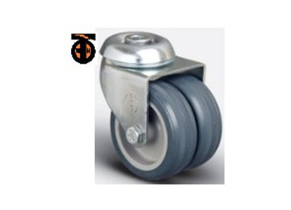 Колесо аппаратное сдвоенное под болт М10 50 мм, диск-полипропилен