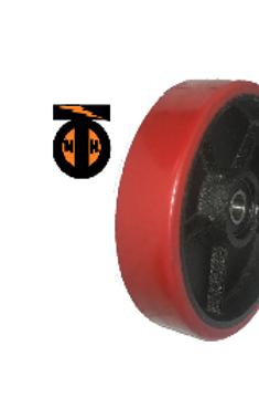 Колесо рулевое (полиуретан)  для гидравлических тележек. D 180 мм с подшипниками