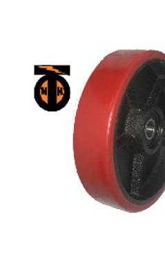 Колесо рулевое (полиуретан) для гидравлических тележек. D 200 мм с подшипниками