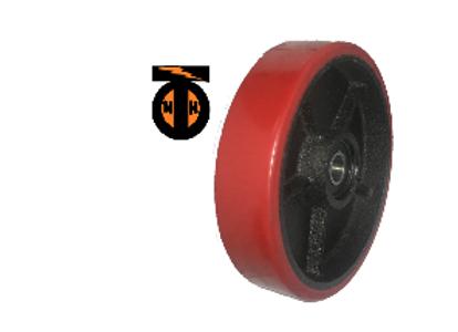 Колесо рулевое (полиуретан) для гидравлических тележек. D 160 мм с подшипниками