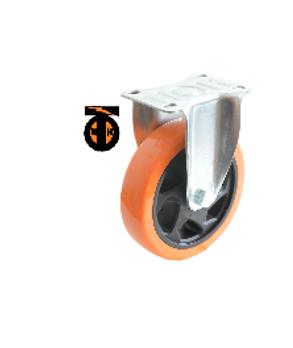 Колесо б/г полиуретан. неповорот. PVC 100 мм (Medium)  4021100 PVC