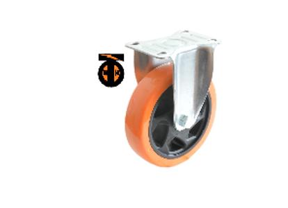 Колесо б/г полиуретан. неповорот. PVC 75 мм (Medium)  4021075 PVC