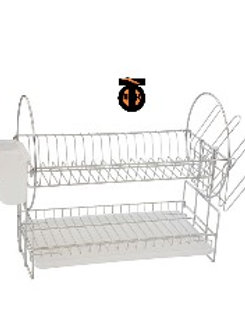 Посудосушитель настольный с поддоном, 530х230х350, хром
