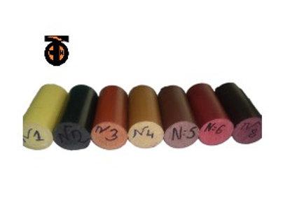 Поручень пластиковый круглый (цвет N 4, орех), 4м