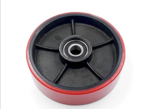 Колесо рулевое 180 (чугун-полиуретан)