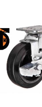 Колесо большегрузное обрезиненное поворотное с тормозом D 125   SCDB 55