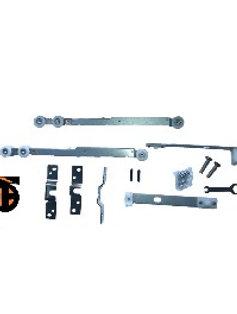 Комплект механизма раздвижной двери: ролики с доводчиком