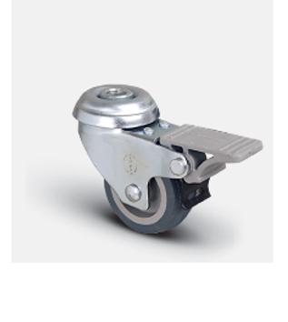 Колесо аппаратное поворотное под болт с тормозом 100 мм ( EP04 MKT 100 F )