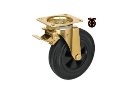 Колесо промышленное поворотное усиленное с тормозом SCMb 160