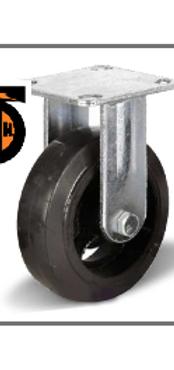 Колесо большегрузное обрезиненное неповоротное D 125   FCD 54