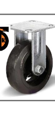 Колесо большегрузное обрезиненное неповоротное D 100  FCD 42