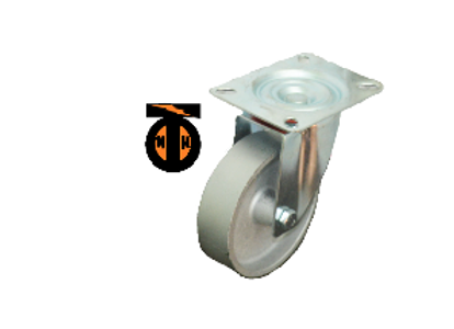 Колесо Чугун поворотное 125мм (30мм) литой обод SCss55  1132125 Light