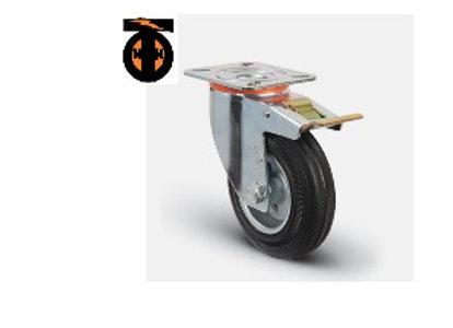 Колесо промышленное поворотное с тормозом 100 мм ( EM01 SMR 100 F )