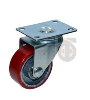 Колесо б/г полиуретан. поворот. 125 мм ( Medium )