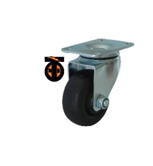 Колесо термостойкое нейлоновое (фенольное) поворотное 75  1142075