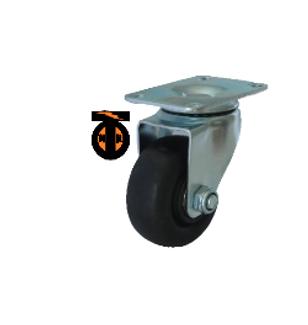 Колесо термостойкое нейлоновое (фенольное) поворотное 125   1142125