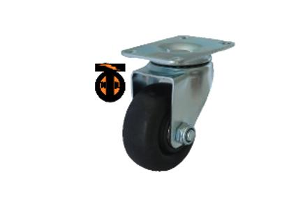 Колесо термостойкое нейлоновое (фенольное) поворотное 100   1142100