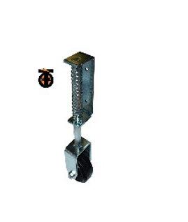 Колесо опорное для гаражных ворот с пружиной неповоротное 100мм обрезиненное