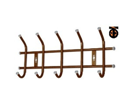 Вешалка настенная 5 крючков медный антик ВНТ5
