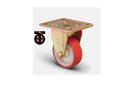 Колесо сверхмощное полиуретановое неповоротное 125 мм ED02 ZBP125, диск-полиамид
