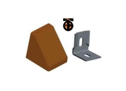 От 10 шт. Уголок 20*20*17*1,2 с заглушкой пирамида ( ясень(11) )