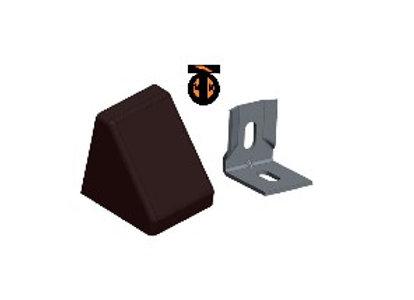 От 10 шт. Уголок 20*20*17*1,2 с заглушкой пирамида ( венге(4) )