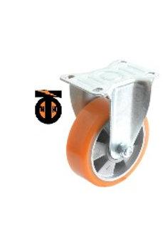 Колесо б/г полиуретан. неповорот. АЛЮМИНИЙ 100 мм (Medium)   4321100 AL