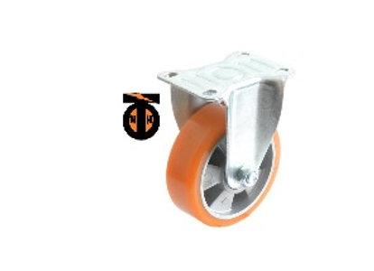 Колесо б/г полиуретан. неповорот. АЛЮМИНИЙ 75 мм (Medium)  4321075 AL