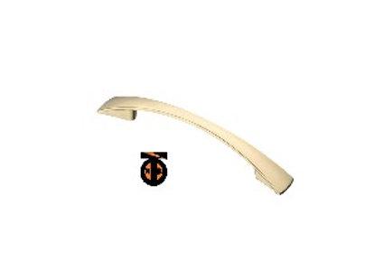 Ручка-скоба плоские концы, золото, 128 мм