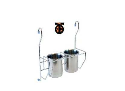 2 стакана для столовых приборов, хром