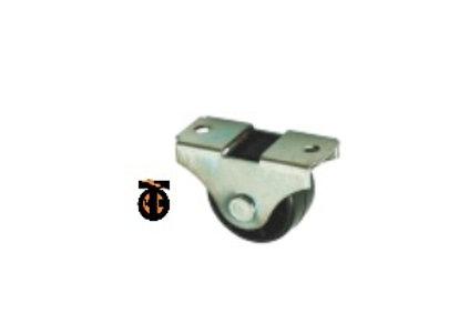 Ролик опорный, неповоротный, малый, цинк, 25 мм ( 493 )