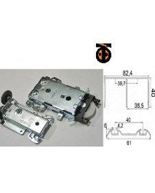 Комплект накладных роликов Командор (2 верхних и 2 нижних ролика)