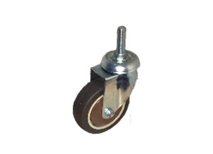 Колесо коричневая мягкая резина болтовое крепление (М10) 75мм (SCTG933)
