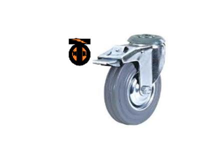 колесо промышленное поворотное под болт с тормозом 075  SCHB93