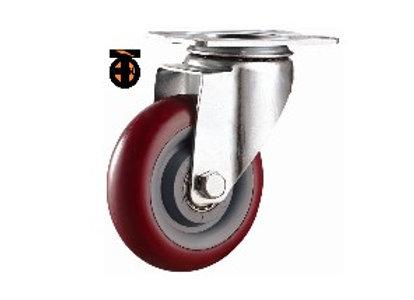 Колесо большегрузное полиуретановое поворотное ПОЛИПРОПИЛЕН 100мм (Medium)