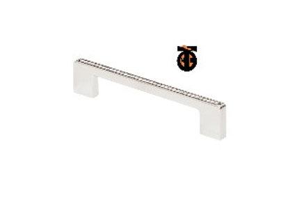 Ручка-скоба с кристаллами, хром, 160 мм