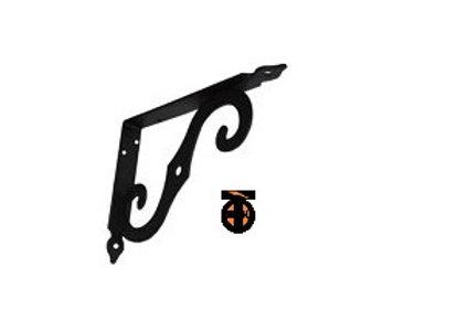 Кронштейн фигурный для полок 250х200мм*2,5мм (черный), SB-44