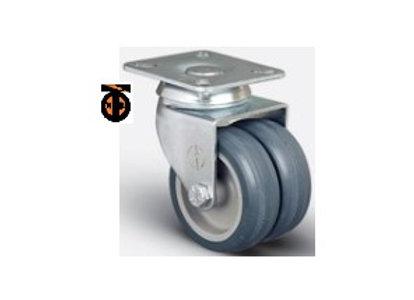 Колесо аппаратное сдвоенное поворотное 50 мм ( ET01 MKT 50 ), диск-полипропилен