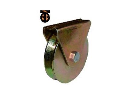 Роликовое колесо для откатных ворот, 100мм, анодированное