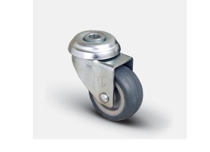 Колесо аппаратное поворотное под болт 100 мм ( EP04 MKT 100 ), диск-полипропилен
