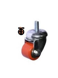 Колесо полиуретан. поворот болт М10. 35мм (903035Т)