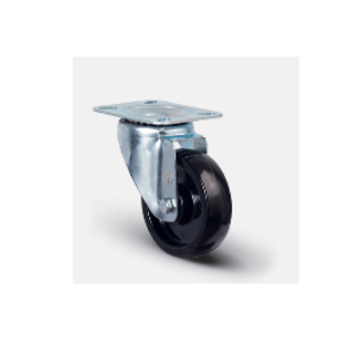 Колесо термостойкое фенольное поворотное 80 мм ( EM 01 BKB 80 )