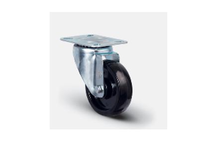 Колесо термостойкое фенольное поворотное 100 мм ( EM 01 BKB 100 )