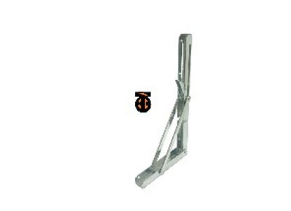 ОТ 2 шт. Кронштейн для полок складной 200х110мм (хром), SB-53