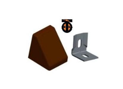 ОТ 10 шт. Уголок 20*20*17*1,2 с заглушкой пирамида ( вишня(10) )