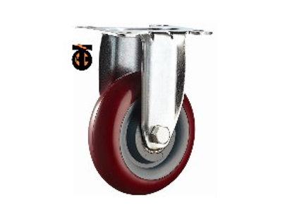 Колесо большегрузное полиуретановое неповоротное 125 мм ПОЛИПРОПИЛЕН (Medium)