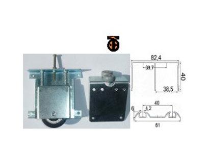 Комплект накладных роликов SDE2K на подшипниках для ДСП 16 мм