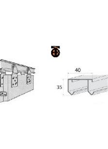 Направляющие для роликов MС-1405 (3м) верх. (алюмин.)